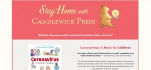 Candlewick Press website screen shot