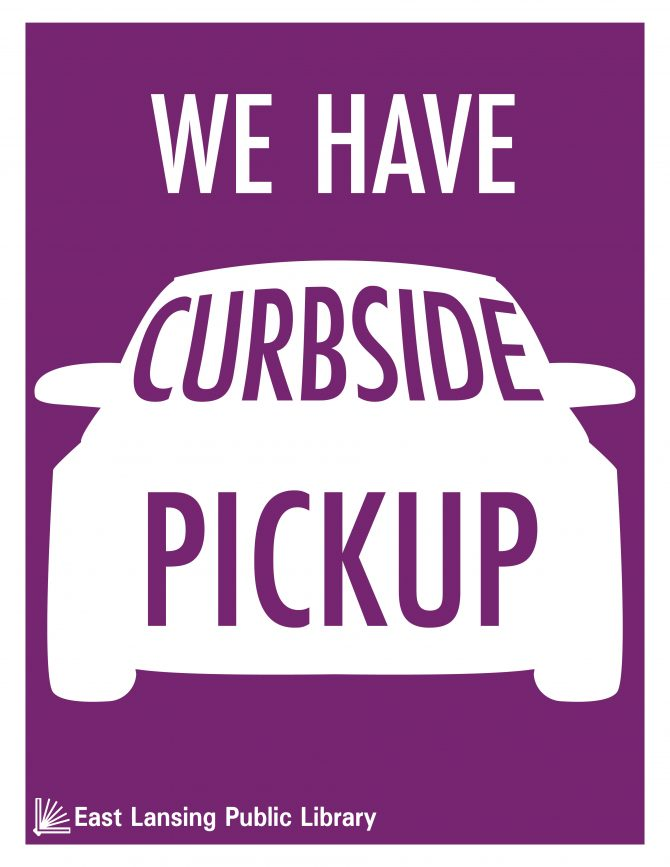 Logo for library's curbside pickup service