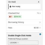 Screen shot demonstrating how to change your Single Click Holds preference