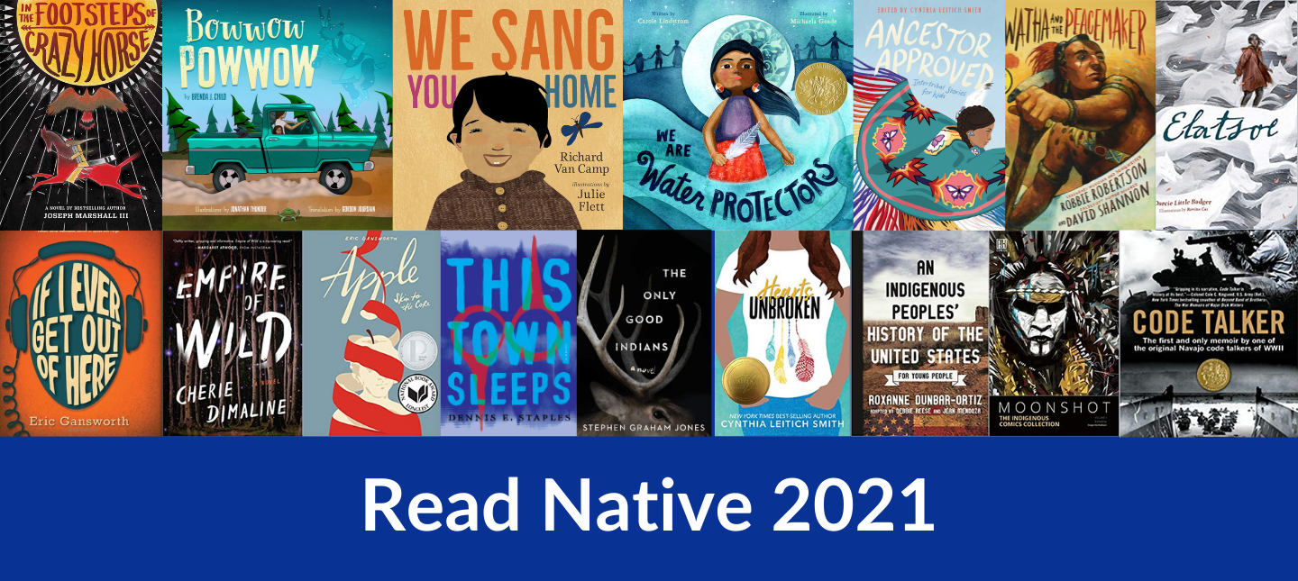 Read Native 2021 banner photo displaying 10 book jackets from native authors featured in the Lists on this page.