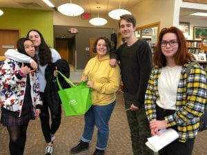 Teen patrons at the library