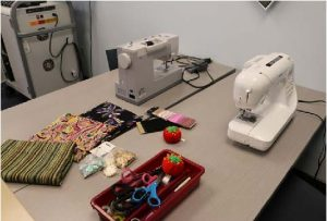 Sewing supplies in the Innocation Lab