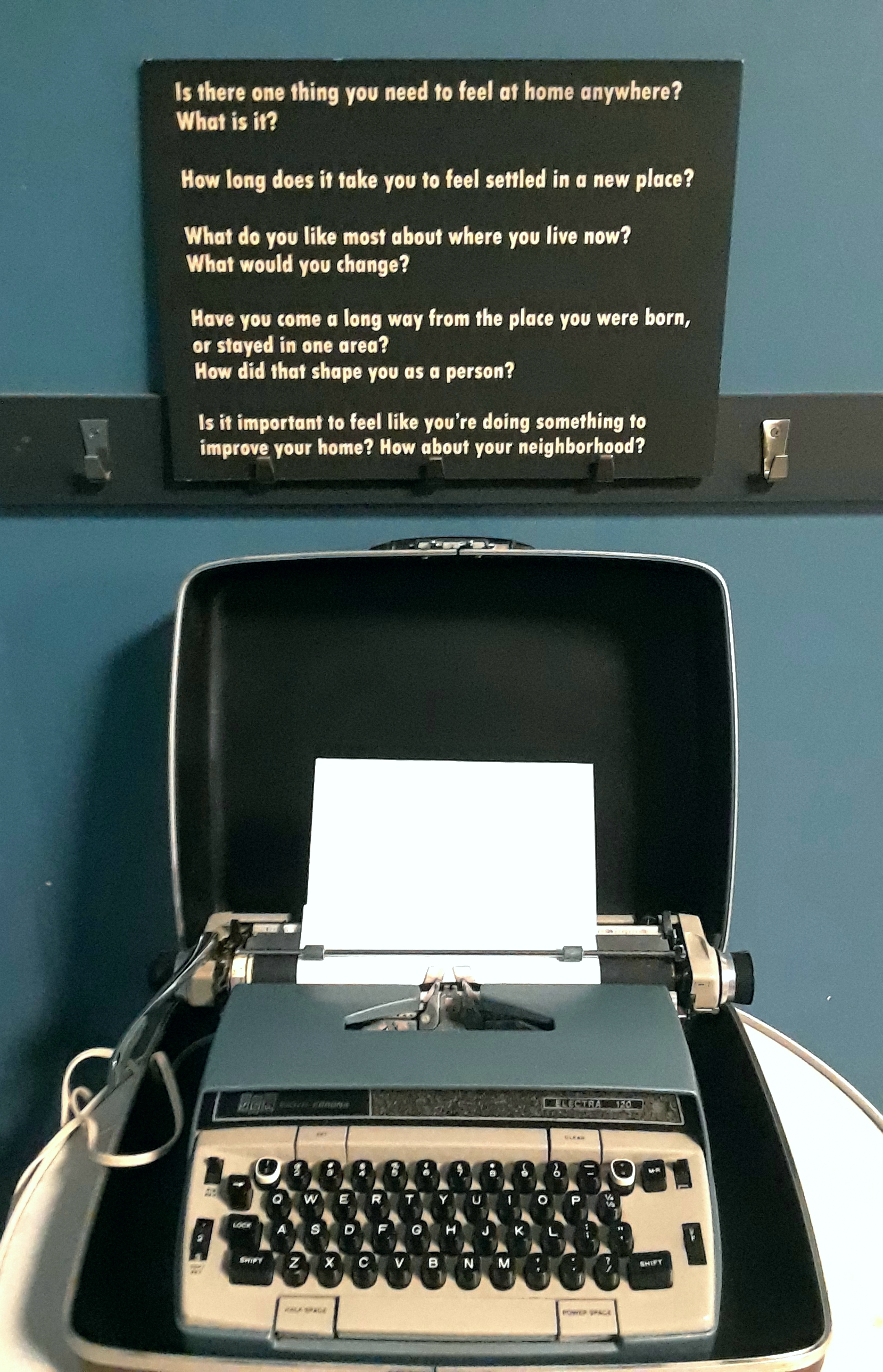 Typing Home: Using vintage typewriters, Createch teens reflect on
