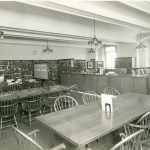 Changed to the Fine Arts Room in 1930, the Mississippi Room was originally the Religion and Philosophy Room. The room had an auditorium for public use. The tables in the room are the original tables selected by Central Library architect Electus Litchfield.