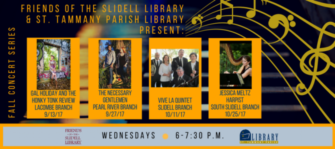 Friends Of The Slidell Library Fall Concert Series St Tammany