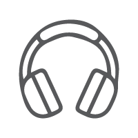 Online Library Icons_Music_Grey_outlines
