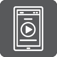 Online Library Icons_Interactive E-book_Grey