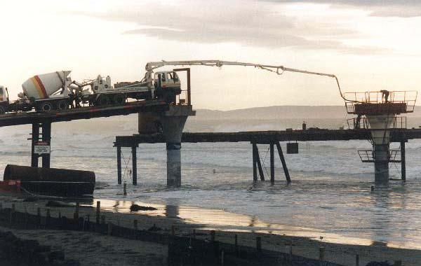 New Brighton Pier during construction, 8 June 1996