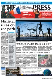 Front page of today's Christchurch Press
