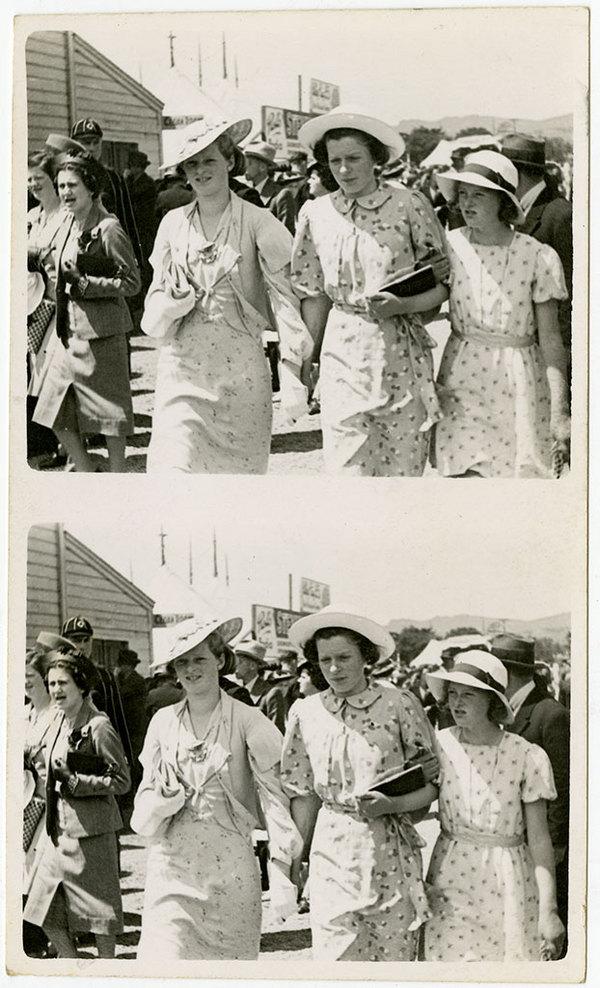 Doris, Alice & Betty White. Show Day, November 1938. Kete Christchurch. PH13-177