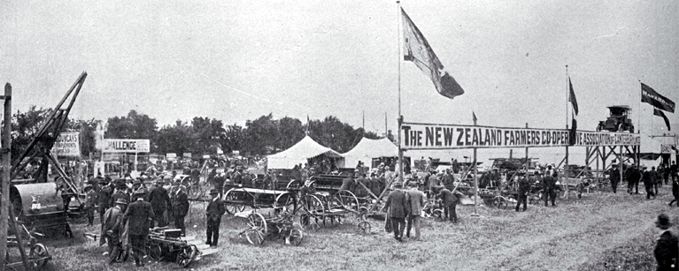 The comprehensive display of the New Zealand Farmers' Co-operative Association at the Canterbury Metropolitan Show [1913] CCL PhotoCD 9, IMG0035