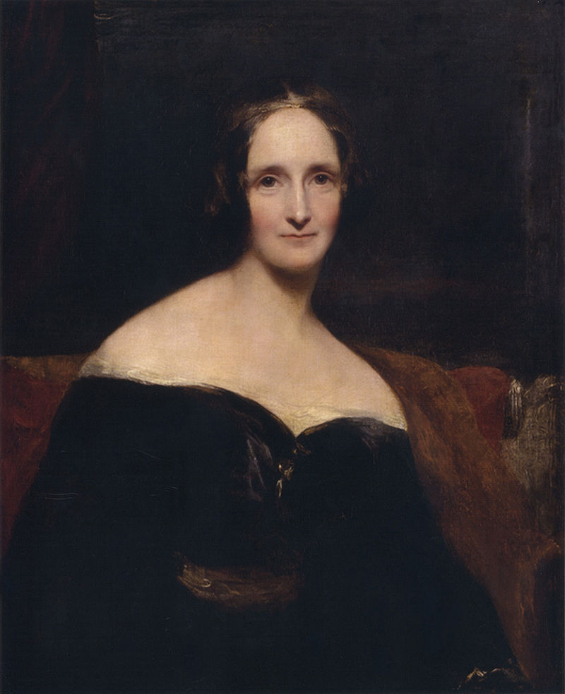 Mary Shelley, by Richard Rothwell, 1840. Wikimedia Commons.