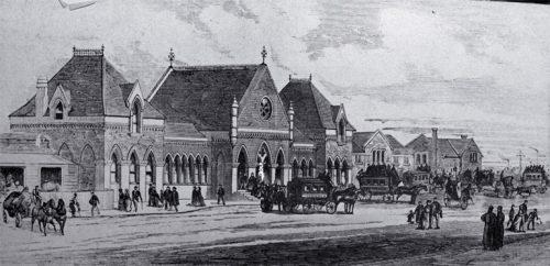 Christchurch railway station [1878] CCL PhotoCD 18, IMG0028