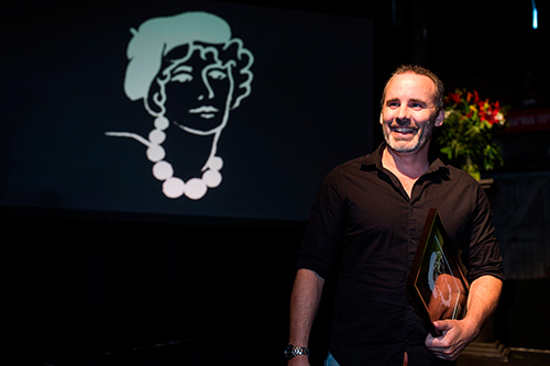 Paul Cleave wins the Ngaio Marsh Award, 2015. Image supplied.