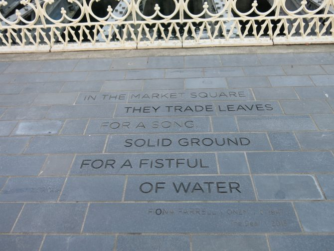 Words by Fiona Farrell in Victoria Square.