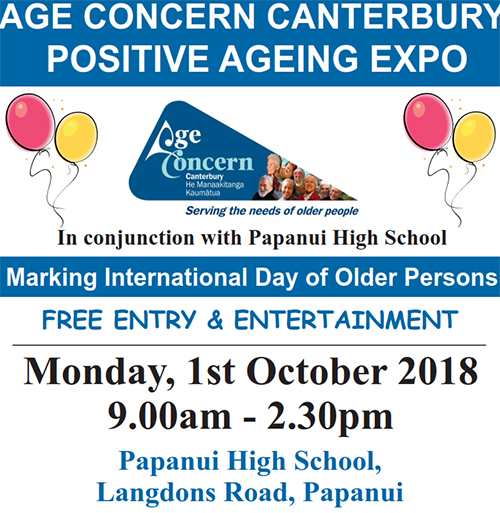 Download Positive Ageing Expo poster [220KB PDF]