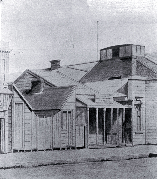 The Lyttelton Times agency showing the Gloucester Street frontage [ca. 1859]