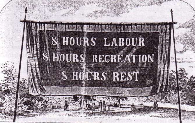 Eight Hour Day Banner, Melbourne, 1856,