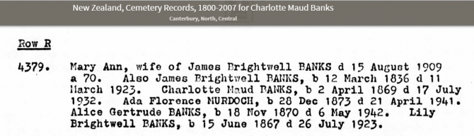 cemetery record