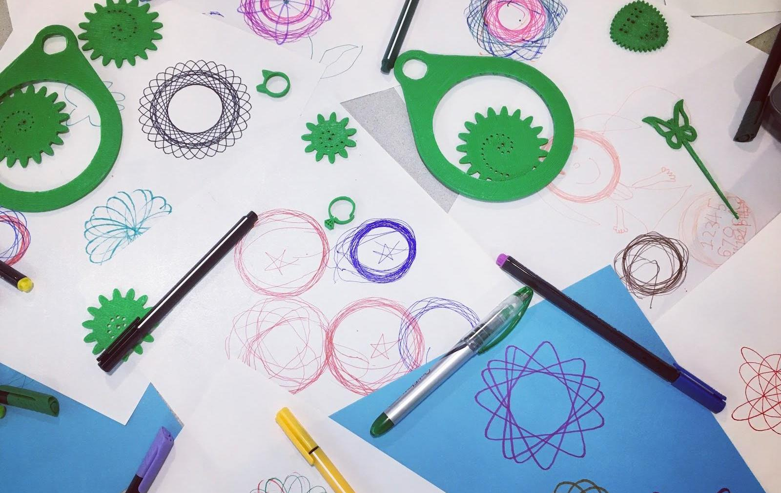 Fidget Spinners And Fortnite Make Science Fun Halifax Public Libraries Home Activity Squishy Circuits Light Up Your Play Doh 3d Printed Spirographs