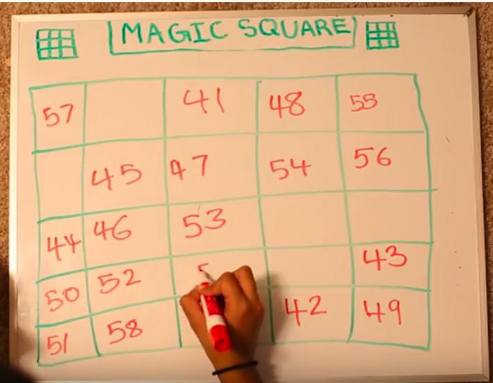 Image of Magic Squares activity in progress
