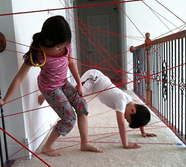 yarn obstacle course