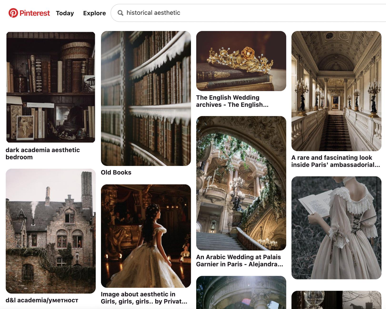 Screenshot of Pinterest website.