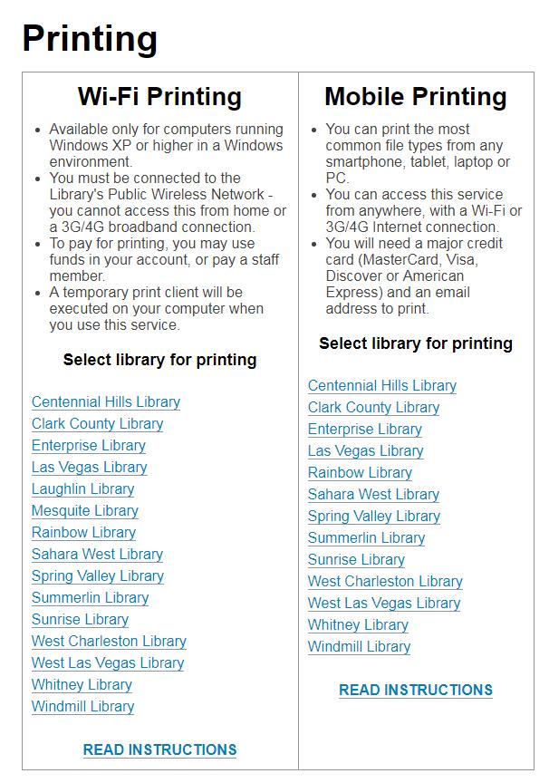 Wi-Fi Printing Help | Las Vegas-Clark County Library District