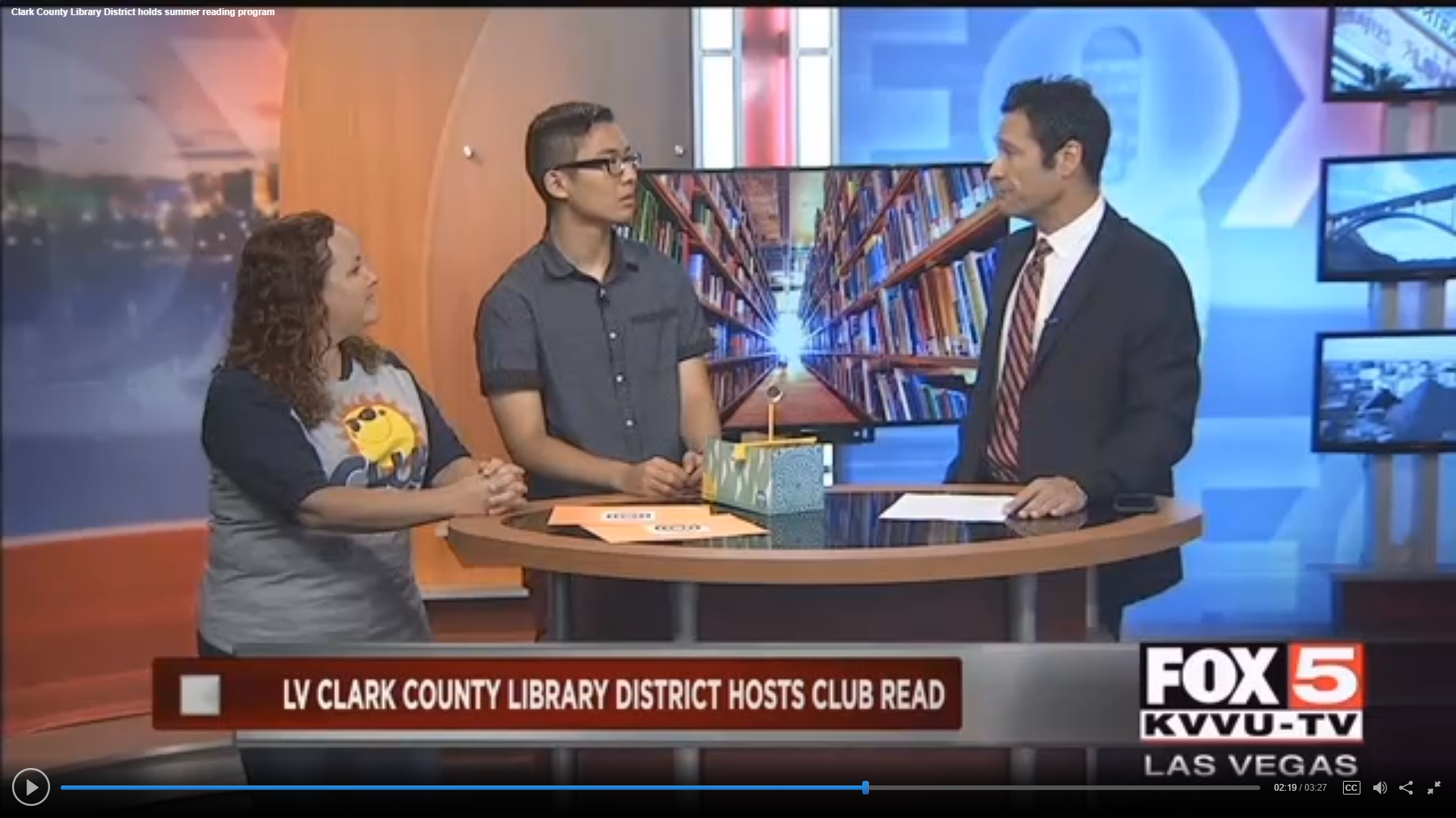 Fox 5 Vegas: Las Vegas-Clark County Library District Holds