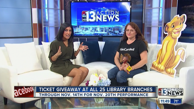 Ktnv Channel 13 Library Giving Away Family 4 Packs To Lion King