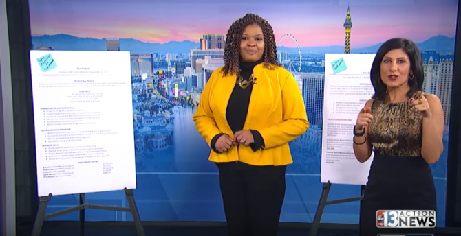 Ktnv Channel 13 The Great Resume Review On January 17 Las Vegas