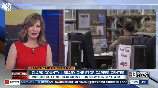 Ktnv Channel 13 Clark County Library Opens One Stop Career Center