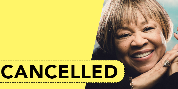 Mavis Staples event scheduled for April 4 has been cancelled