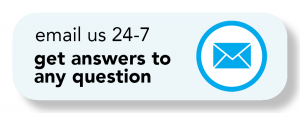 "<p>Button reads ""email us 24-7"" and get answers to any question""</p>"