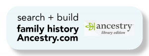 "A button with text that says, ""search and build family history with ancestry.com"""