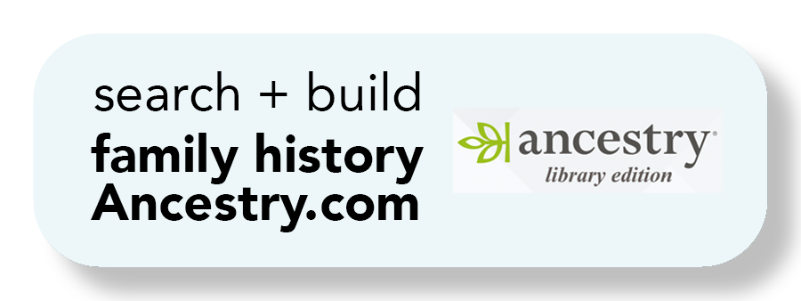 """A button with text that says, """"search and build family history with ancestry.com"""""""