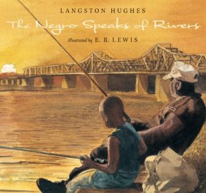 Image is of the book cover: The Negro Speaks of Rivers by Langston Hughes
