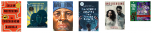 Image is of colorful book covers related to the Underground Railroad