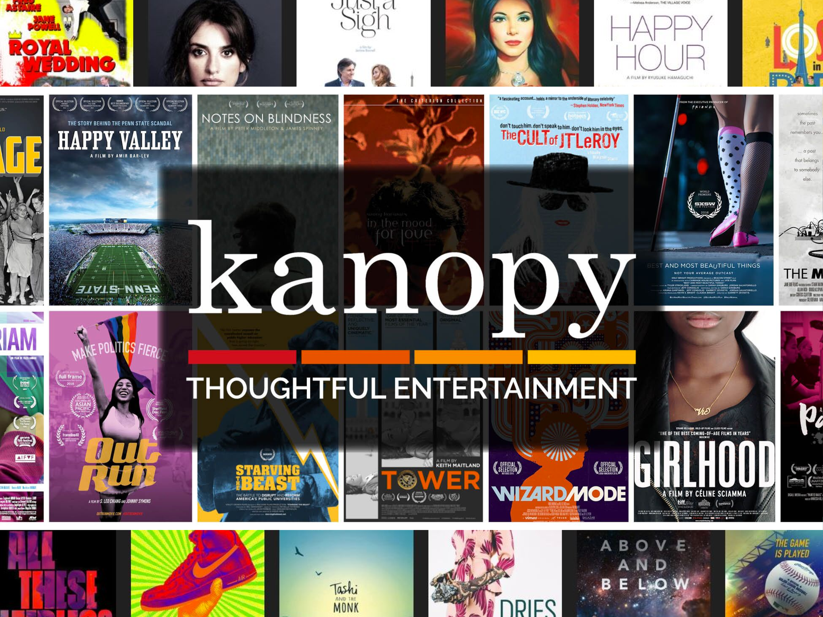 Web graphic for digital library Kanopy
