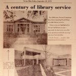 "Xenia Daily Gazette article with the headline ""A century of library service"""