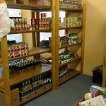 Jamestown food pantry shelves