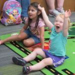 Happy children at story time