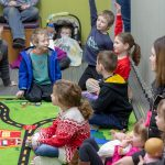 Kids listening to a story