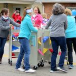 Winters-Bellbrook Community Library staff perform book cart drills