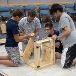 Teens assemble a Little Free Library