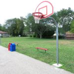 Basketball court at Jamestown Community Park