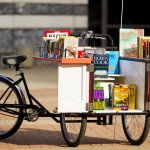 Bookbike in front of Library