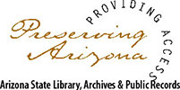 logo for arizona state library archives and public records
