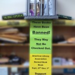 Southwest Library banned books display