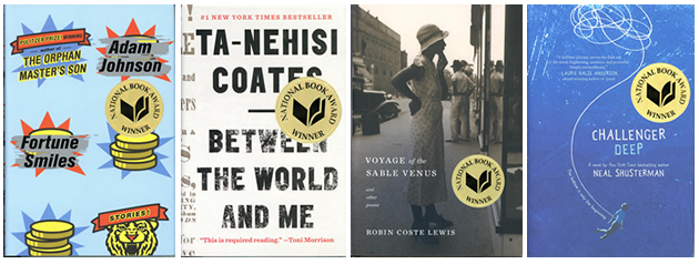 Covers of the National Book Award Winners
